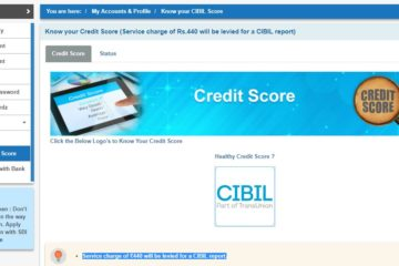 Check CIBIL score through Internet banking