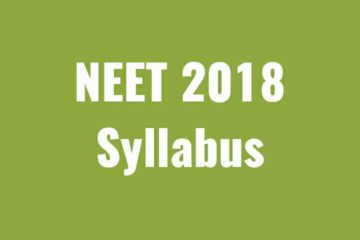 Syllabus of NEET(UG), 2018