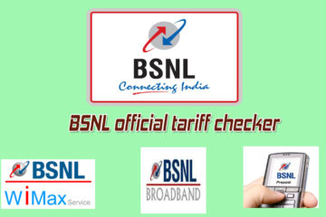 BSNL official tariff checker