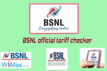 BSNL official tariff checker