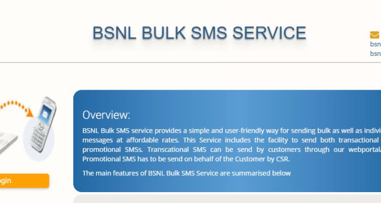 BSNL starts Bulk SMS service
