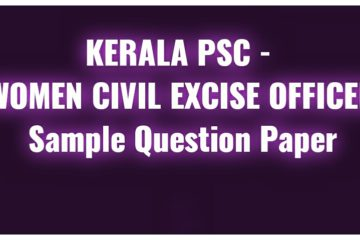 Women Civil Excise Officer sample Questions
