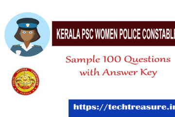 Kerala PSC Women Police Constable Sample Question Paper