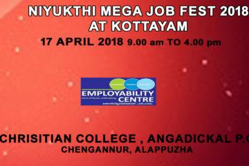 NIYUKTHI MEGA JOB FEST 2018 AT KOTTAYAM