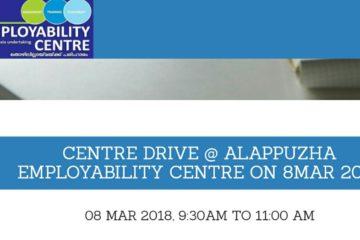 Centre Drive at Alappuzha Employability Centre