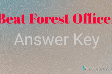 KPSC Beat Forest Officer Answer key.