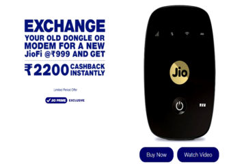 JioFi Dongle or Modem Exchange offer @ 999