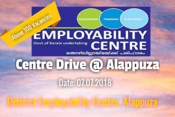 CENTRE DRIVE @ ALAPPUZHA EMPLOYABILITY CENTRE ON 7TH JULY 2018