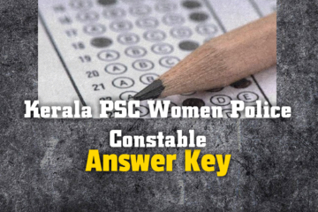 Kerala PSC Women Police Constable Answer Key