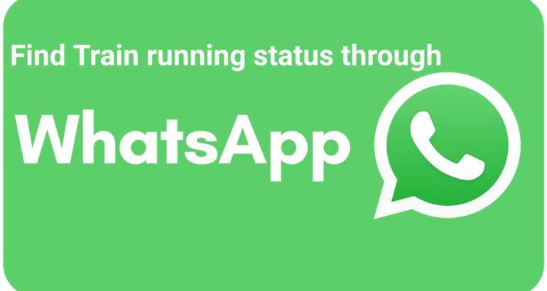 Indian Railways Passengers can check train status through WhatsApp