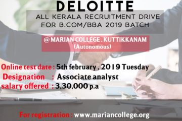 DELOITTE Recruiting B.Com / BBA – 2019 Batch