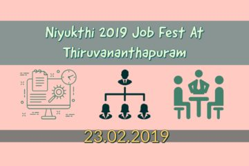 Niyukthi 2019 Job Fest at Thiruvananthapuram