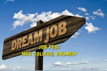 Job Fest at MES College Erumely on 23rd March 2019