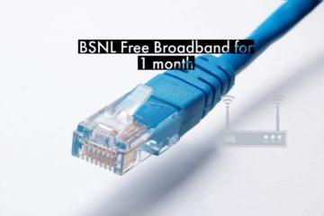 BSNL Broadband Unlimited Standalone Plan: 5 GB Free Trial