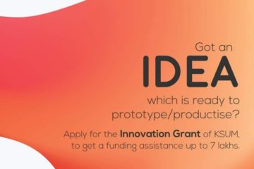 Inviting Applications from Startups for Idea & Productisation Grant