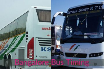 Kerala State Road Transport Corporation (KSRTC) Volvo Multi-Axle AC Bus Timing to Bangalore