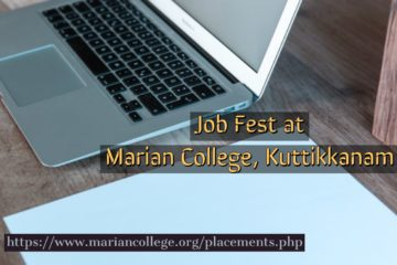 Mega Job Fair at Marian College Kuttikkanam on 11th May 2019