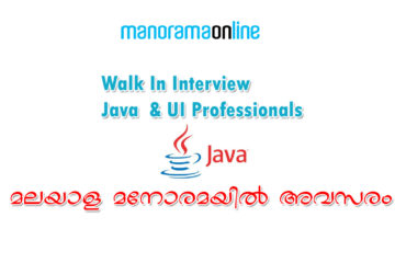 Walk In Interview for Java and UI Professionals in Manorama Online
