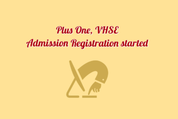 Kerala Plus One & VHSE Online Admission Registration Started