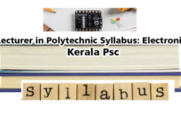Lecturer in Polytechnic Syllabus: Electronics