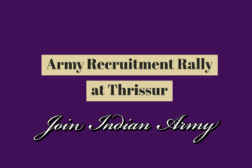 Army recruitment rally at Thrissur
