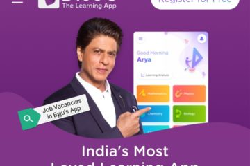 Vacancies in Byju's Learning App