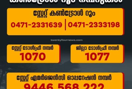 Kerala State Control Room Numbers