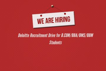 Deloitte Recruitment Drive for B.COM/BBA/BMS/BBM Students