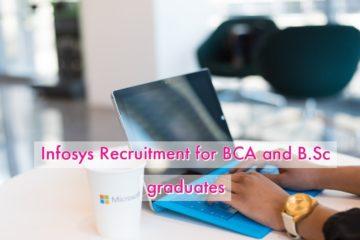 Infosys hiring BCA or B.Sc Graduates