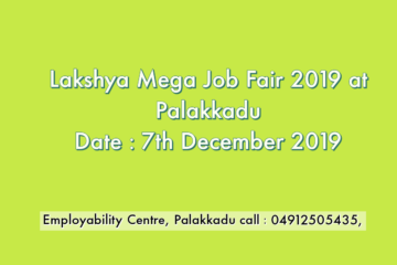 Lakshya Mega Job Fair 2019 at Chittur