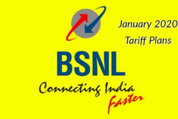 Bsnl Tarriff Card January 2020