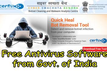 Cyber Swachhta Kendra : Get Free Antivirus Software