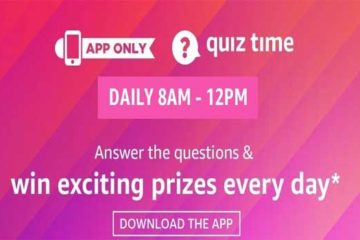 Amazon Daily Quiz Answers 18th March 2020