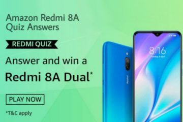 Amazon Redmi Quiz Answers | Win Redmi 8A Dual Smartphone