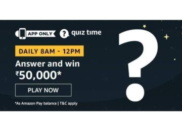 Amazon Daily Quiz Answers 16th March 2020