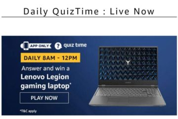 Amazon Quiz Time Answers-14th March 2020
