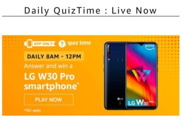 amazon.in Daily Quiz Time Question and answer 11 March 2020