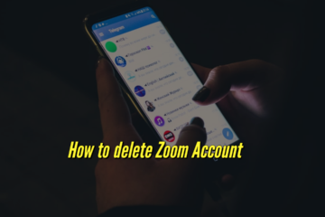 How to delete your Zoom account