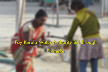 Pay Kerala Water Authority Bill through PhonePe