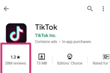 TikTok rating down to 1 star on Google Play Store