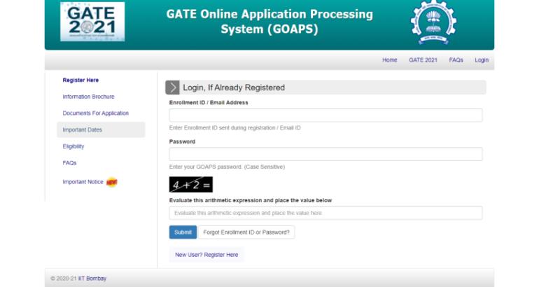 GATE 2021 application process begins