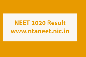 NTA NEET Result 2020 Published