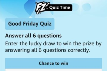 Amazon Good Friday Quiz Answers Chance to win ₹25000