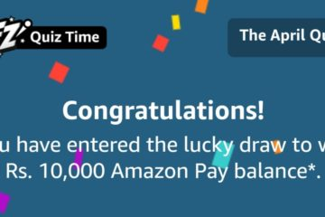 Amazon April Quiz Answers, Chance to win ₹10000