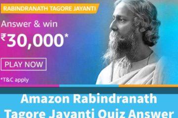 Amazon Rabindranath Tagore jayanti quiz answers