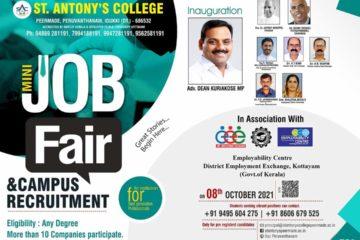 Mini Job Fair at St.Antony's College, Peruvanthanam (Idukki)